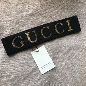 New Gucci Elastic Headband with Tags
